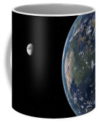 View Of North America With Rise In Sea Coffee Mug by Walter Myers