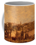 View Of Pienza And The Tuscan Landscape Coffee Mug