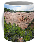 View Of Rock Dome Surface From Sandal Trail Across The Canyon In Navajo National Monument-arizona Coffee Mug