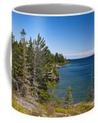 View Of Rock Harbor And Lake Superior Isle Royale National Park Coffee Mug by Jason O Watson