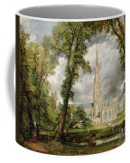 View Of Salisbury Cathedral From The Bishop's Grounds Coffee Mug