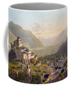 View Of Sion, Illustration From Voyage Coffee Mug by Gabriel L. & Lory, Mathias G. Lory