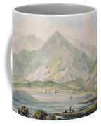 View Of Snowdon Wc On Paper Coffee Mug