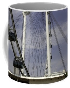 View Of Spokes Of The Singapore Flyer Along With The Base Section Coffee Mug