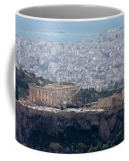 View Of The Acropolis From Lykavittos Hill Coffee Mug