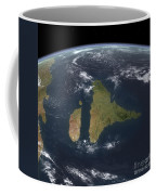 View Of The Indian Subcontinent Coffee Mug