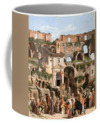 View Of The Interior Of The Colosseum Coffee Mug