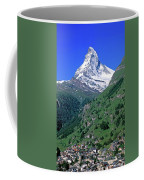 View Of The Matterhorn And The Town Coffee Mug