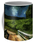 View Of The Night Sky From The Old Bridge Coffee Mug