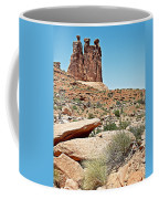 View Of Three Gossips In Arches Np-ut  Coffee Mug