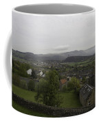 View Of Wallace Monument And Houses And Surrounding Areas Coffee Mug