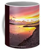 View Opposite Of Mackinac Bridge From Mcgulpin Point At Sunset. Coffee Mug