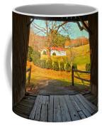 View Through The Meems Bottom Covered Bridge Coffee Mug