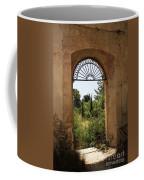 View Through The Monastery Window Coffee Mug