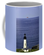 Viewing The Newport Lighthouse Coffee Mug