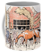 Viewing The Racehorse In The Paddock Coffee Mug