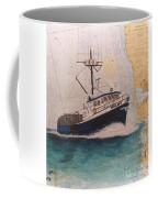 Vigilant Crab Fishing Boat Nautical Chart Art Coffee Mug
