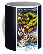 Viking Women And The Sea Serpent Poster Coffee Mug by Gianfranco Weiss