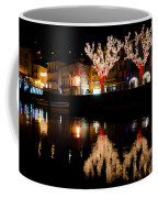Village Reflected In The Water Coffee Mug