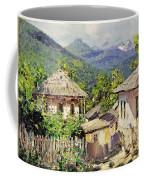 Village Scene In The Mountains Coffee Mug