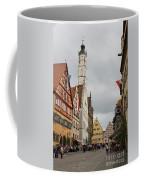 Village Scene Rothenburg Ob Der Tauber Coffee Mug