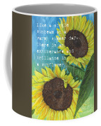 Vince's Sunflowers 1 Coffee Mug by Debbie DeWitt