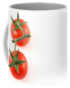 Vine Tomatoes On Left Edge Copy Space Coffee Mug
