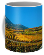 Vineyards In Autumn, Valais Canton Coffee Mug