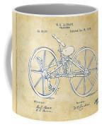 Vintage 1869 Velocipede Bicycle Patent Artwork Coffee Mug