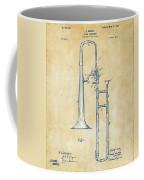 Vintage 1902 Slide Trombone Patent Artwork Coffee Mug by Nikki Marie Smith
