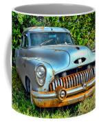 Vintage American Car In Yard Coffee Mug