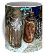 Hdr Vintage Art  Cans And Bottles Coffee Mug