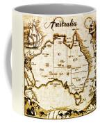 Vintage Australia Map Coffee Mug