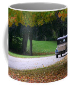 Vintage Auto On The Road Again Coffee Mug by Kay Novy