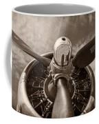 Vintage B-17 Coffee Mug by Adam Romanowicz