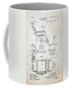 Vintage Barber Chair Patent Coffee Mug