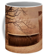 Vintage Barn And Windmill Winter Coffee Mug