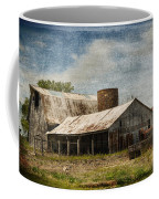 Barn -vintage Barn With Brick Silo - Luther Fine Art Coffee Mug