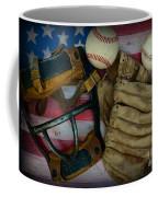 Vintage Baseball American Folk Art Coffee Mug