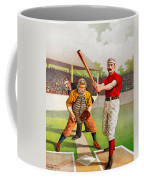 Vintage Baseball Print Coffee Mug