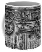 Vintage Bicycle Built For Two In Black And White Coffee Mug