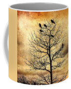 Vintage Blackbirds On A Winter Tree Coffee Mug