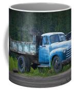 Vintage Blue Chevrolet Pickup Truck Coffee Mug