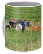Vintage Blue Tractor Coffee Mug