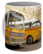 Vintage British Buses In Valetta Malta Coffee Mug