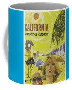 Vintage California Travel Poster Coffee Mug