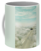 Vintage Car Driving Into Clouds Coffee Mug