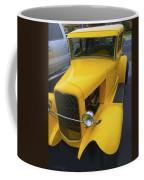 Vintage Car Yellow Coffee Mug