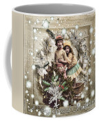 Vintage Christmas Coffee Mug by Mo T