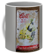 Vintage Cott Fruit Juice Sign Coffee Mug